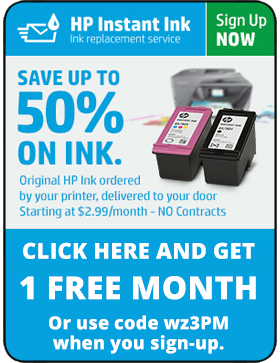HP Instant Ink One Month Free!
