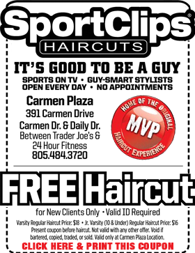 The Sport Clips in Ventura County CA are like no other place you've ever gotten your hair cut. There are sports and TVs everywhere - playing sports of course. And the Ventura County CA Sport Clips' guy-smart stylists know how to give you the cut you want and the cut you need.